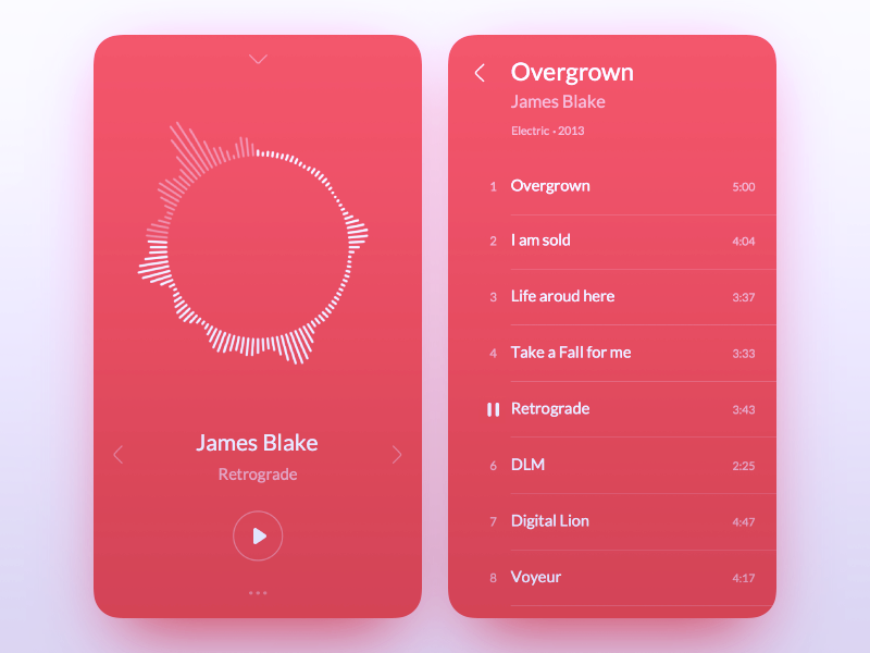 Music Player [color, dark]