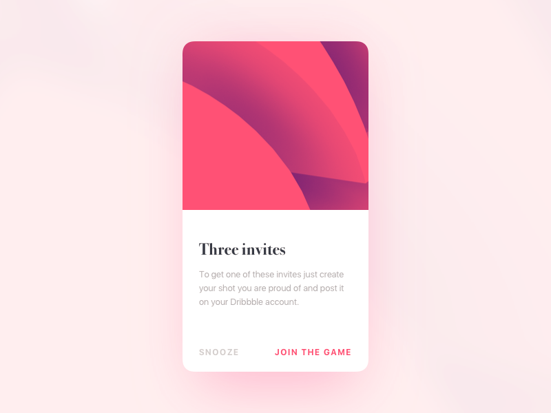 3 dribbble invites dialog ui ux invitation material design modal card mobile freebies giveaway dribbble invites