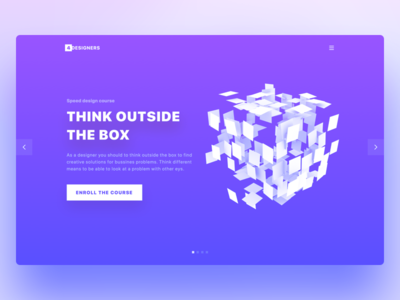 Landing page gradient vibrant colors button slider call to action landing page typography 3d web design ui ux web