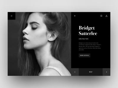 Model agency portfolio