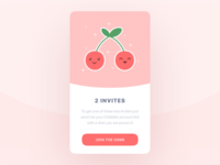 Two cute dribbble invites