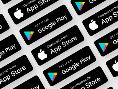 Apps Stores Badges badges app store google play download freebies button ui svg source icon