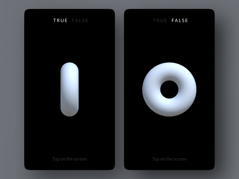 True Or False Generator pet project minimal app simple app made with unity unity ios app android app android ios mobile ux ui