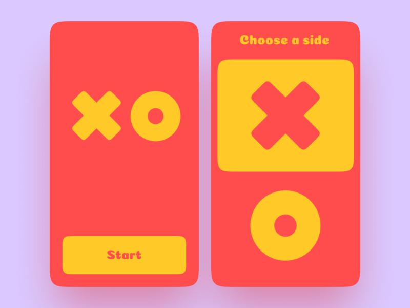 Tic Tac Toe app pet project ai tic tac toe unity app design simple design mobile design android app ios app app for kids ui ux