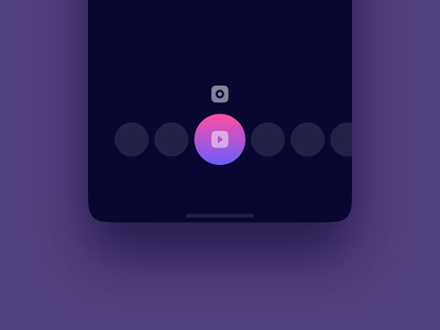 Video Photo Switcher Exploration interaction design microinteractions ui animation photo app video app icons camera camera app mobile animation ux ui