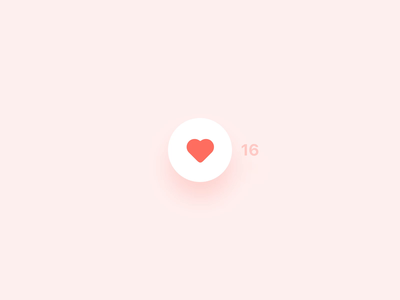Stepper XV [A Like Button] design exploration mobile design interaction design like button counter stepper microinteraction microinteractions animation uianimation ui ux