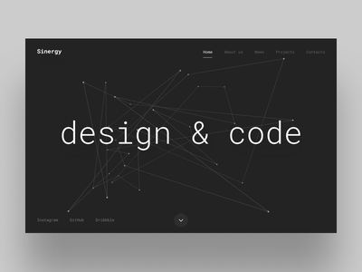 Digital Agency Landing Page typography generative design simple design minimalist digital agency landing page abstract lines p5 processing web design ui ux