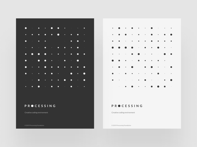 Processing Posters dark light dots simple minimalist minimalism poster graphic design generative design procedural p5 processing