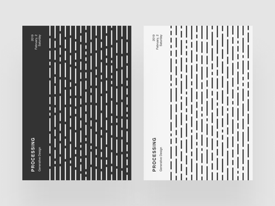 Processing Poster IV cover simple procedural p5 processing minimalism minimalist graphic design poster lines generative design