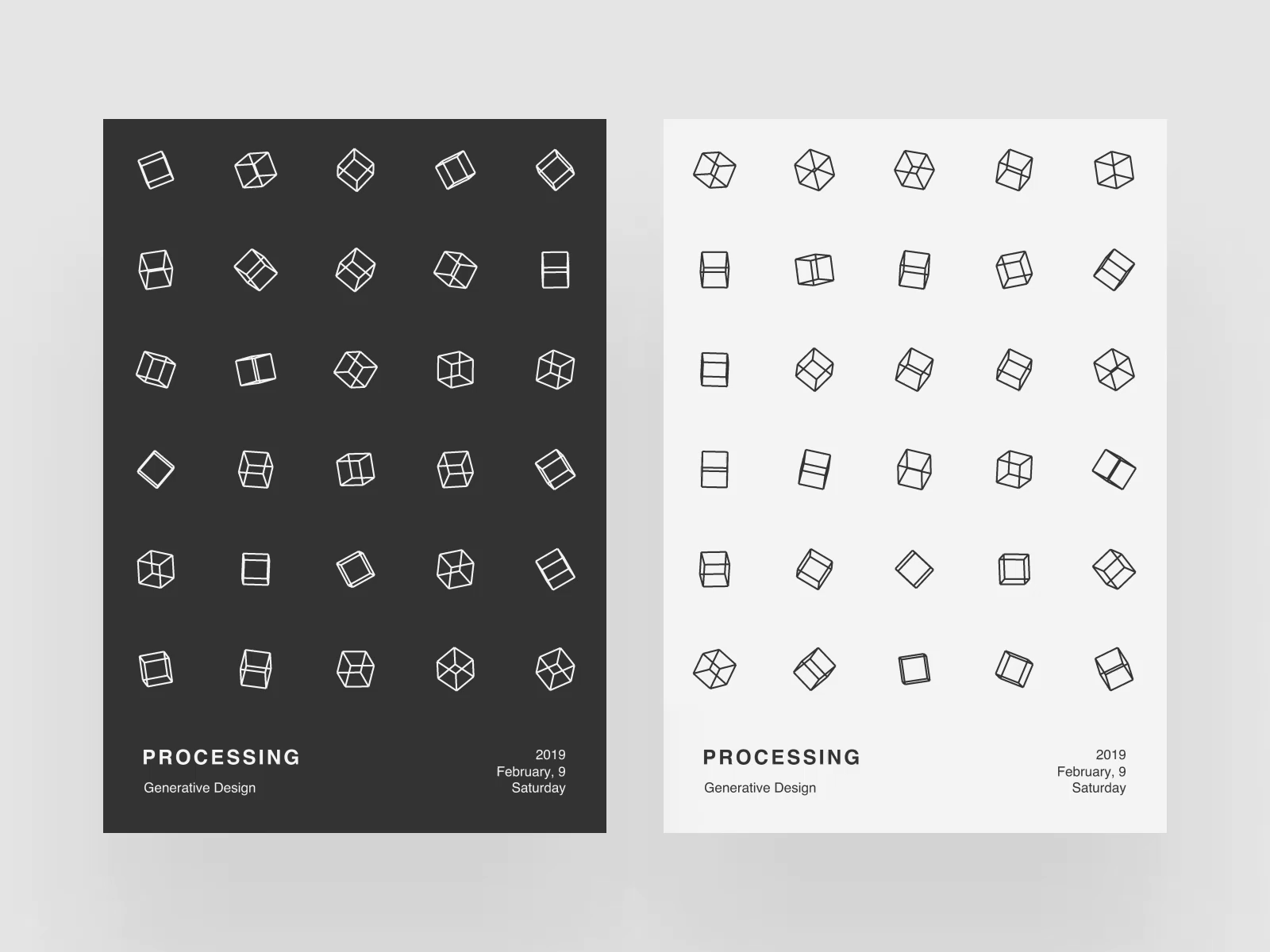 Processing poster v by volorf