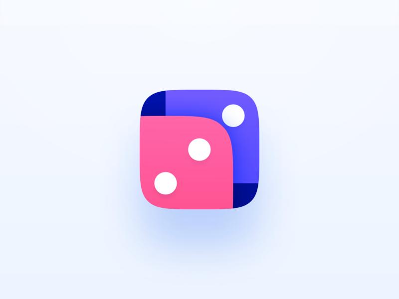 Gravity Dice App Icon dice app icon branding logo android app icon android app ios app mobile app pet project mobile app icon ios icon app icon