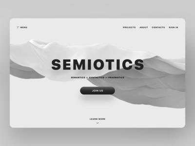 Semiotics: Landing Page Exploration
