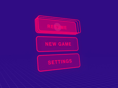 VR Menu Interaction game ui game design microinteraction virtual reality ux design buttons design exploration animation after effects 3d navigation menu microinteractions ui animation ui ux vr ui vr design interaction design vr