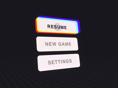 VR Menu Interaction