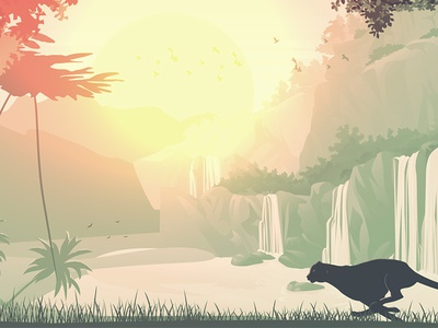 Sceneries Illustrations - Jungle