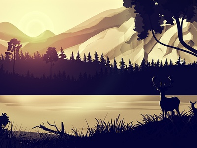 Sceneries Illustrations - Forest