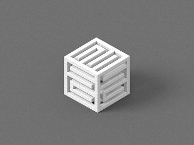 Isometric Cube Logo isometric cinema 4d logo website setgraphic grey gray cube