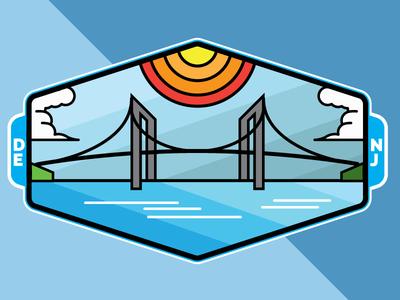 Delaware / New jersey Badge badge illustrator vector thicklines