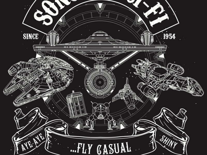 Sons of Sci-Fi Shirt design t-shirt tshirt graphics design illustrator vector