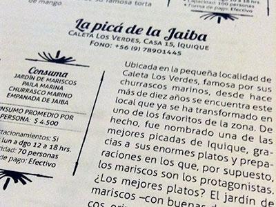 Wip Picadas lobster black page editorial ornament font typo design book