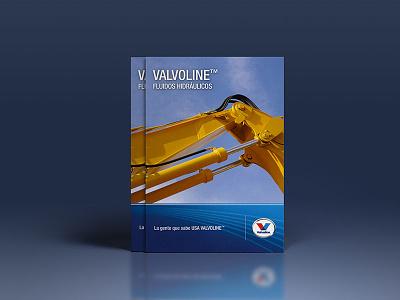 Brochure Valvoline Chile editorial catalog blue cover design brochure