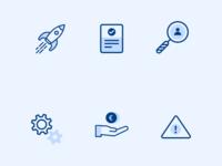 Small set of minimalistic icons