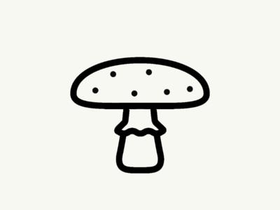 Mushroom graphicdesign icon vectober inktober