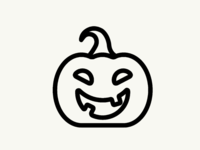 Halloween pumpkin graphicdesign illustration icon vectober inktober