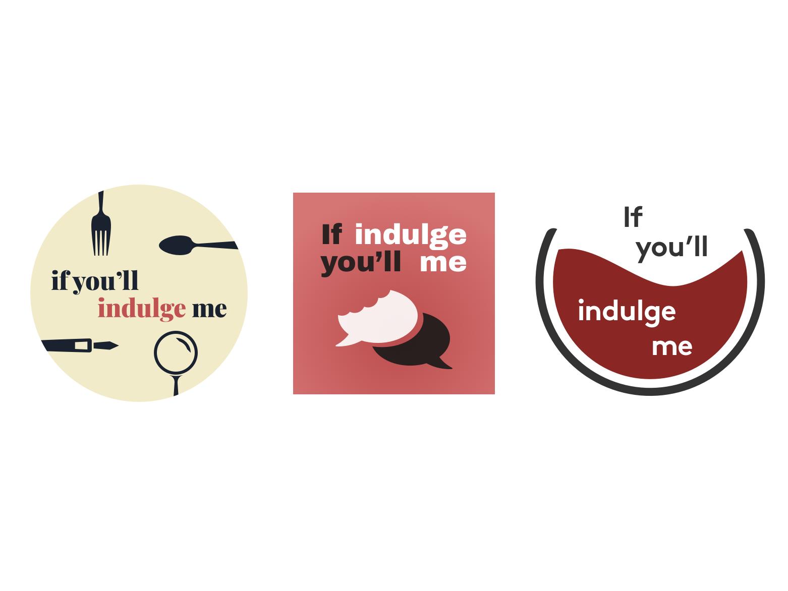 If you'll indulge me simple design illustration flat web podcast food branding logo