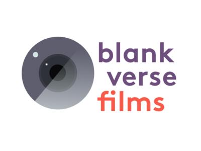Blank Verse Films design vector typography logo illustration branding