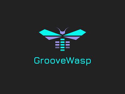 GrooveWasp groove music bug wings bee wasp groovewasp brand typehue logo