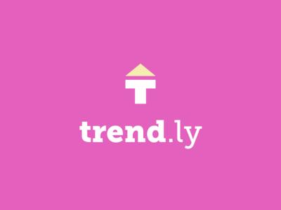 Trend.ly brandom typehue brand yellow pink trend logo