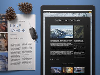 Pirelli Highway Zero - Hub Content  content article interactive travel concept website ux web ui design