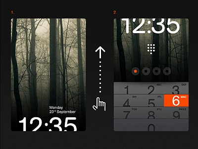 Slide up to unlock minimal interface phone mobile os ios ui