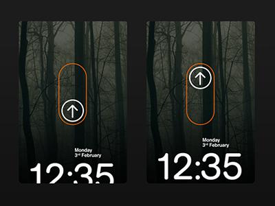 Slide up to unlock (Animation) minimal ui unlock swipe animation os mobile phone interface number pad
