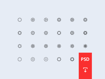 Settings Icons [PSD]