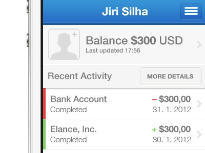 PayPal iPhone app redesign