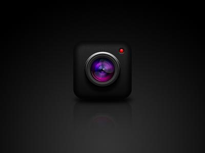 iPhone App Camera Icon icon ios camera photo lense iphone app glare