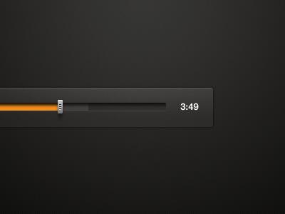 Music Player Slider slider ui app music progress dark interface