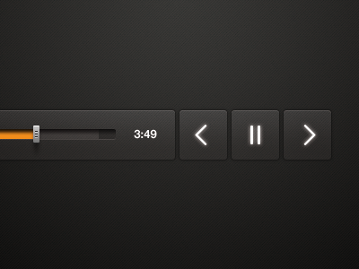 Music Player Slider (buttons)