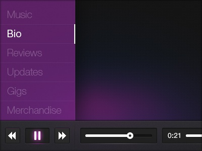 Music Player & Menu UI
