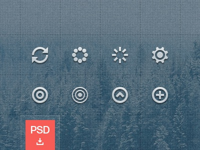 Icons Teaser [PSD] set symbols pictographs collection download free psd 32px 16px circle glyphs icons