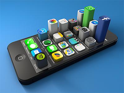 Iphone app usage shot