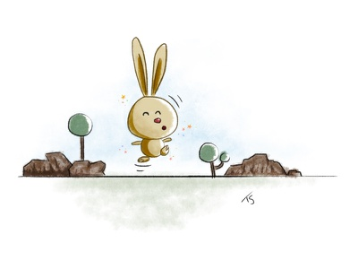 Little Rabbit illustration child book drawing