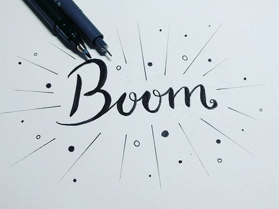 Boom handwriting lettering handbrushing handlettering boom