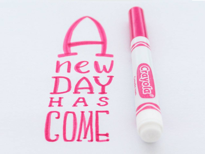 New day has come brushlettering crayolamarker crayola fonts typo lettering handlettering