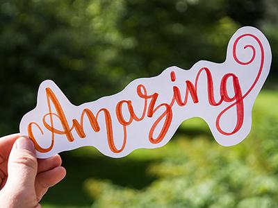 "Handlettering ""Amazing"" crayolamarker brushlettering handlettered lettering handlettering"