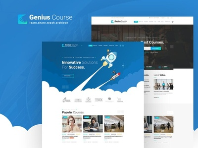 Genius   Learning   Course PSD Template