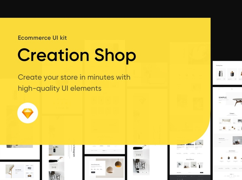 Creation Shop UI Kit 230 blocks