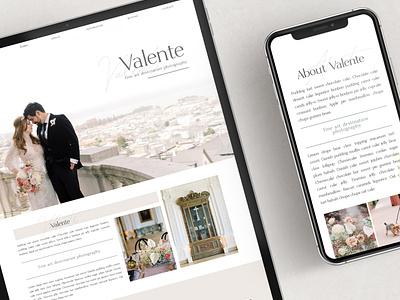 The Valente - Showit Theme Layout template website design website showit website showit design showit theme flat elements ux app ui branding web design